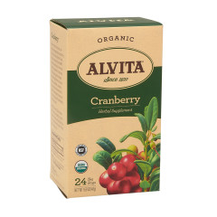 ALVITA TEA ORGANIC CRANBERRY TEA BAGS 24 CT BOX