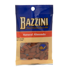 BAZZINI NATURAL ALMONDS 1.5 OZ PEG BAG