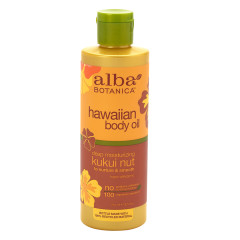 ALBA BOTANICA - KUKUI NUT ORGN BODY OIL - 8.5OZ - 6/CS