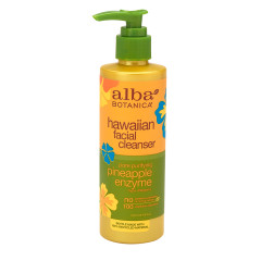 ALBA BOTANICA PINEAPPLE ENZYME FACIAL CLEANSER 8 OZ PUMP BOTTLE
