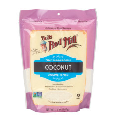 BOB'S RED MILL UNSWEETENED COCONUT FINE MACAROON 12 OZ POUCH