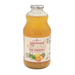 LAKEWOOD ORGANIC JUICES - PINEAPPLE JUICE - 32OZ