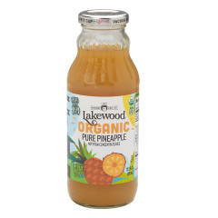 LAKEWOOD ORGANIC JUICES - PURE PNAPPLE - 12.5OZ