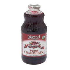 LAKEWOOD ORGANIC JUICES - PURE CRANBERRY JCE - 32OZ