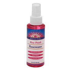 HERITAGE STORE ROSEWATER WITH ATOMIZER 4 OZ SPRAY