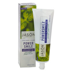JASON POWER SMILE ANTI- CAVITY & WHITENING GEL TOOTHPASTE 6 OZ TUBE