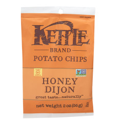 KETTLE HONEY DIJON POTATO CHIPS 2 OZ PEG BAG