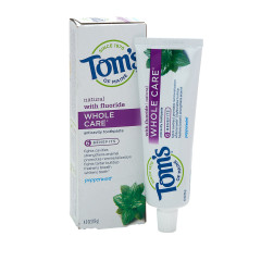 TOM'S - TOOTHPASTE - WHOLE CARE - PEPPERMINT - 4OZ