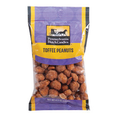 PDC CLEAR WINDOW BAG BUTTER TOASTED PEANUTS PEG BAG 4.5 OZ