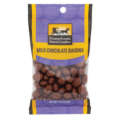 PDC CLEAR WINDOW BAG CHOCOLATE COVERED RAISINS PEG BAG 4 OZ