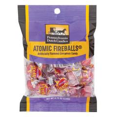 PDC CLEAR WINDOW BAG ATOMIC FIREBALLS PEG BAG 4.75 OZ