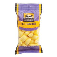 PDC CLEAR WINDOW BAG BUTTER MINTS PEG BAG 4.5 OZ