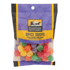 PDC CLEAR WINDOW BAG TINY SPICE DROPS PEG BAG 7 OZ