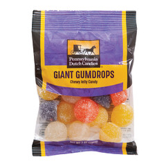 PDC CLEAR WINDOW BAG GIANT GUM DROPS PEG BAG 7 OZ