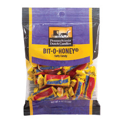 PDC CLEAR WINDOW BAG BIT-O-HONEY PEG BAG 4 OZ