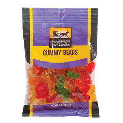 PDC CLEAR WINDOW BAG GUMMY BEARS PEG BAG 5 OZ