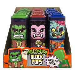 HALLOWEEN - BLOCK LOLLIPOPS .35OZ