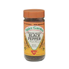 SPICE GARDEN NATURAL - PEPP BLACK MED GRND - 2OZ
