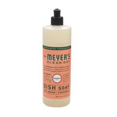 MRS. MEYER'S GERANIUM LIQUID DISH SOAP 16 OZ BOTTLE