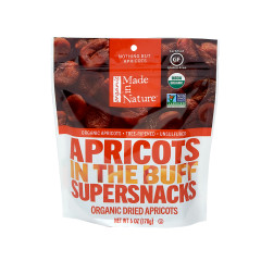 MADE IN NATURE ORGANIC APRICOTS 6 OZ PEG BAG