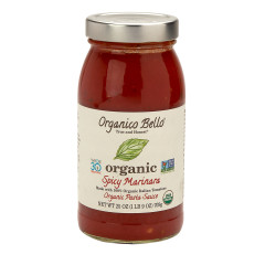 ORGANICO BELLO ORGANIC SPICY MARINARA PASTA SAUCE 25 OZ JAR
