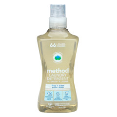 METHOD 4X LAUNDRY DETERGENT FREE CLEANER 66 LOAD 53.5 OZ BOTTLE