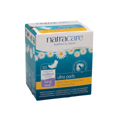 NATRACARE - ULTRA PADS WITH WINGS - LONG - 10PCS