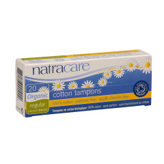 NATRACARE ORGANIC NON-APPLICATOR COTTON TAMPONS BOX