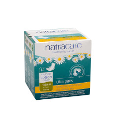 NATRACARE ULTRA PADS WITH WINGS REGULAR BOX