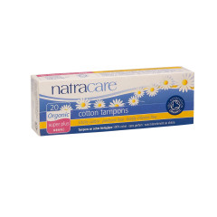 NATRACARE ORGANIC SUPER PLUS TAMPONS NON-APPLICATOR STYLE BOX