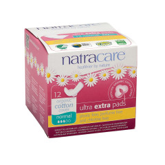 NATRACARE - ULTRA EXTRA PADS W/WINGS NRML - 12PCS