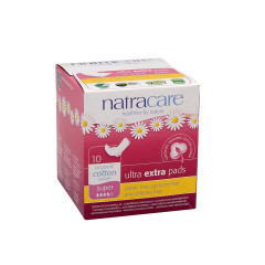 NATRACARE - ULTRA EXTRA PADS W/WINGS - SUPR - 10PCS