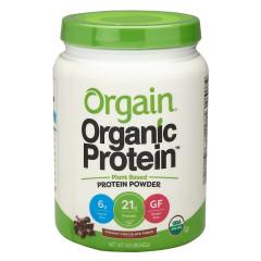 ORGAIN ORGANIC PROTEIN POWDER PLANT BASED CREAM CHOCOLATE FUDGE 1.02 LB JAR
