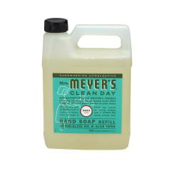 MRS. MEYER'S BASIL LIQUID HAND SOAP REFILL 33 OZ JUG
