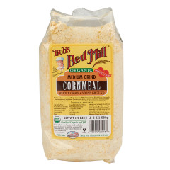 BOB'S RED MILL ORGANIC MEDIUM GRIND CORNMEAL 24 OZ POUCH