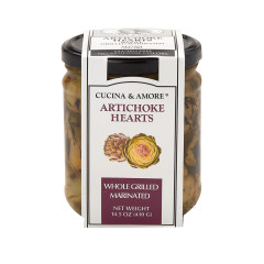 CUCINA & AMORE WHOLE GRILLED ARTICHOKE HEARTS 14.5 OZ JAR