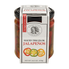 CUCINA & AMORE SLICED TRICOLOR JALAPENOS 14.5 OZ JAR