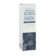 SCHMIDT'S WONDERMINT ACTIVATED CHARCOAL TOOTHPASTE 4.7 OZ