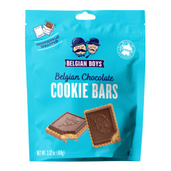 BELGIAN BOYS CHOCOLATE COOKIE BARS 3.52 OZ POUCH