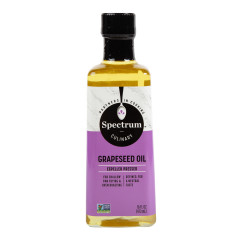 SPECTRUM REFINED GRAPESEED OIL 16 OZ BOTTLE
