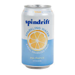 SPINDRIFT BEVERAGE LEMON SPARKLING WATER 12 OZ CAN