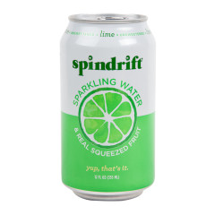 SPINDRIFT BEVERAGE LIME SPARKLING WATER 12 OZ CAN