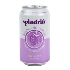 SPINDRIFT BEVERAGE BLACKBERRY SPARKLING WATER 12 OZ CAN