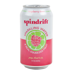 SPINDRIFT BEVERAGE RASPBERRY LIME SPARKLING WATER 12 OZ CAN