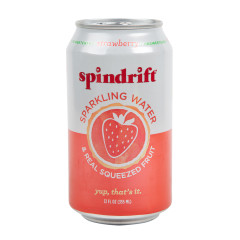 SPINDRIFT BEVERAGE STRAWBERRY SPARKLING WATER 12 OZ CAN