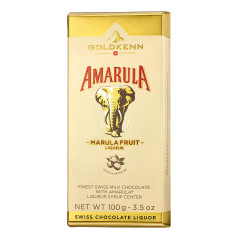 GOLDKENN AMARULA SWISS MILK CHOCOLATE BAR WITH LIQUEUR SYRUP CENTER 3.5 OZ