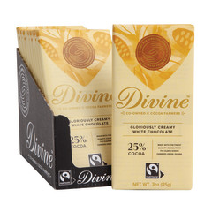 DIVINE - WHITE CHOCOLATE BAR - 3OZ