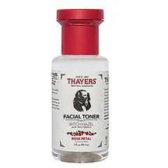 THAYERS TRIAL SIZE ALCOHOL FREE WITCH HAZEL ROSE PETAL FACIAL TONER 3 OZ BOTTLE