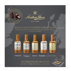 ANTHON BERG CHOCOLATES SINGLE MALTS SCOTCH 10 PC 5.47 OZ