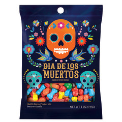 CLEVER CANDY - DOTD SKULL & BONES - PEG BAG - 5OZ